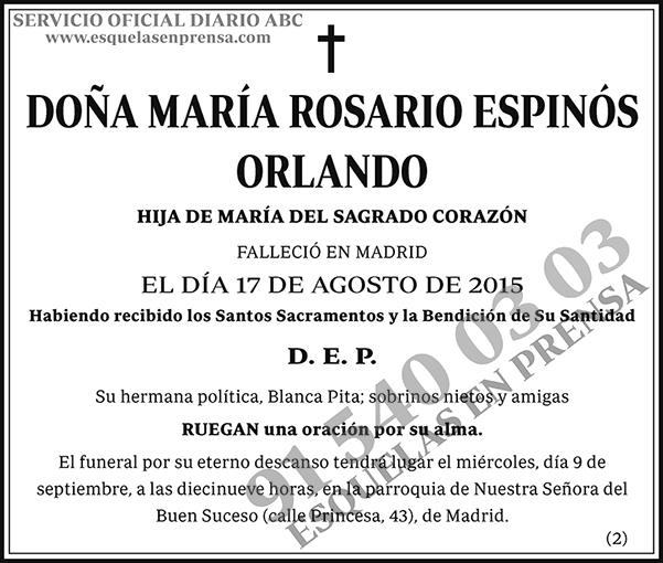 María Rosario Espinós Orlando